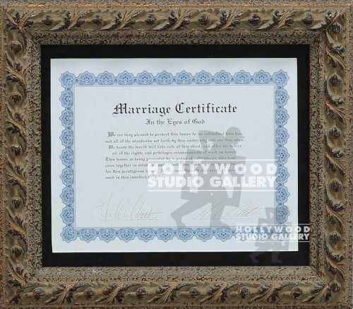 13X15 MARRIAGE CERTIFICATE FRMD