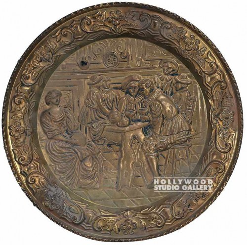 "17"" Brass Decorative Plate"