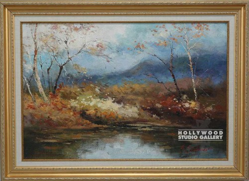 32X44 SIDOROV FALL LAKESCAPE/GOLD