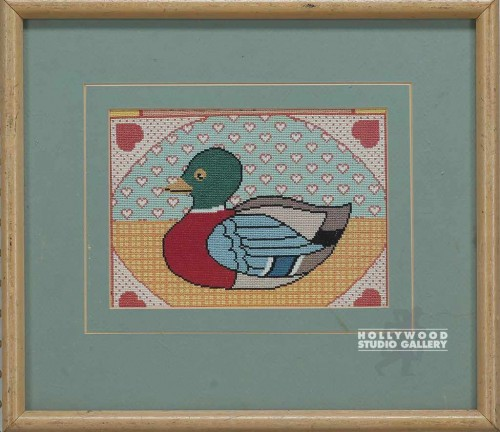 14x16 Embroidered Duck/Hearts/Blnd