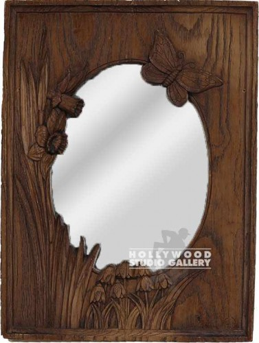 15x11 MIRROR/BUTTERFLY WOODEN FRAME