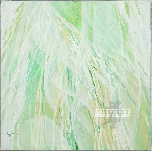 30x30 Green/White Abstract