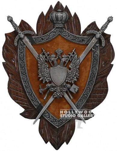 27x21 FAMILY CREST DBLE SWORD