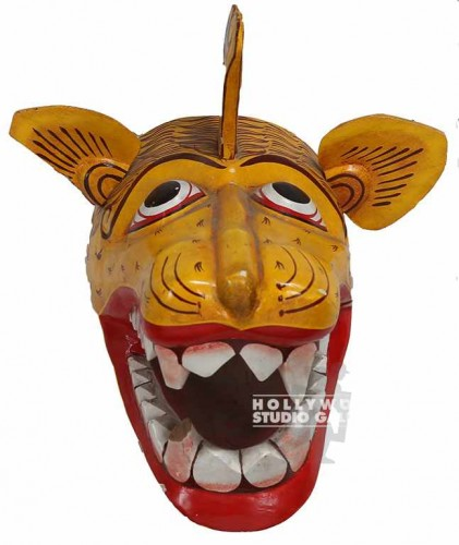 9X12X11 3-D ANIMAL MASK/YELLOW
