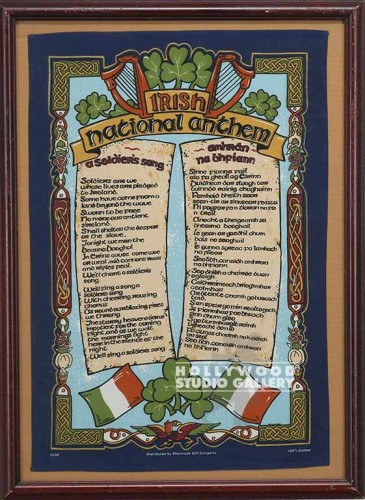 30X22 IRISH NATIONAL ANTHEM/WOOD FR