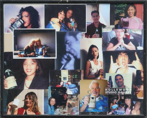 17X21 PARTY PEOPLE COLLAGE/BLCK FRM