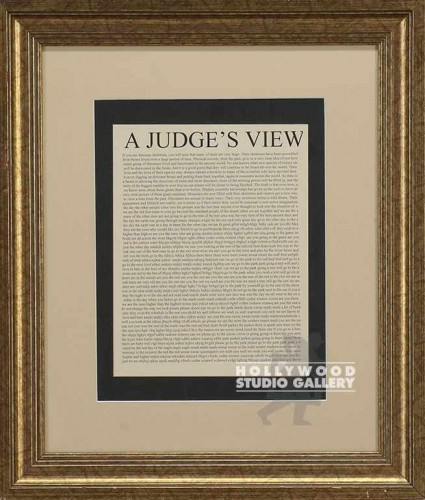 22X19 GLD WOOD FRM/ A JUDGE`S VIEW