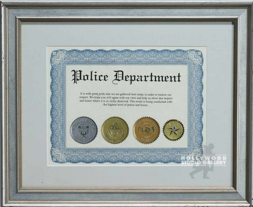 12X15 POLICE DEPARTMENT CERTIFICATE