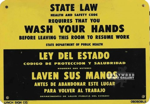7X10 STATE LAW/WASH YOUR HANDS