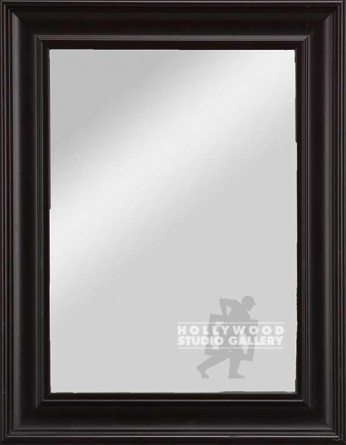 27X21 BLACK FRAMED MIRROR