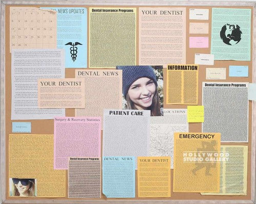 3X4 DRESSED BULLETIN BOARD/MTL FRM