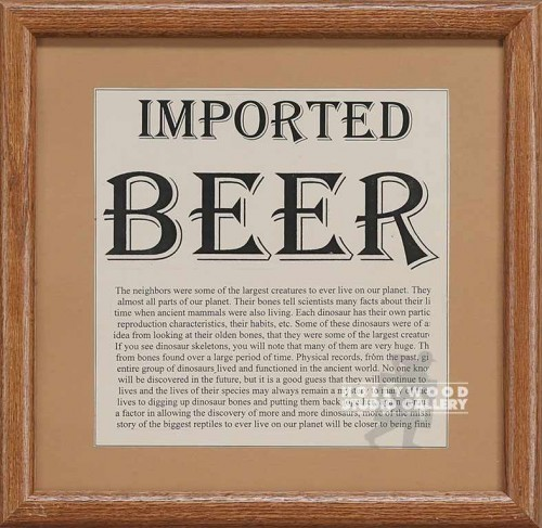14X14 BRWN FRM/ IMPORTED BEER