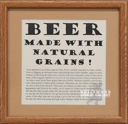 14X14 BRWN FRM/BEER MADE GRAINS