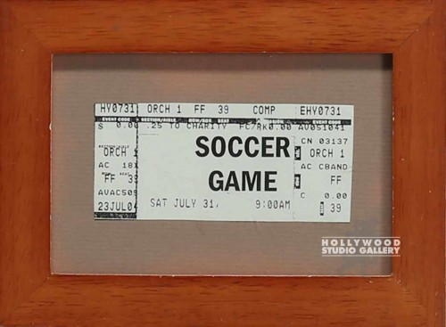 6X8 FRAMED SOCCER TICKET