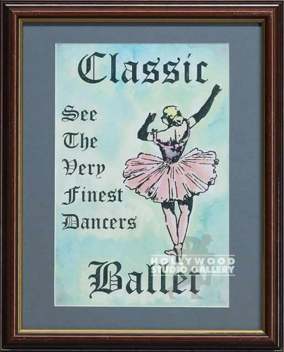 16X13 WOOD FRM/ CLASSIC BALLET/PINK