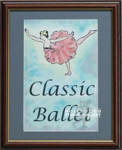 16X13 WOOD FRM/ CLASSIC BALLET