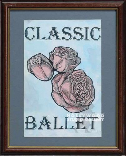 16X13 WOOD FRM/CLASSIC BALLET/ROSES