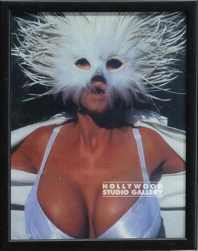 12X9FRM/WHITE FEATHER MASK/STRIPPER