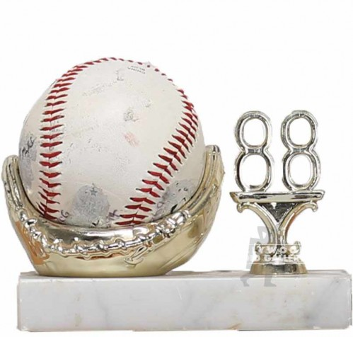 5x5x2 BASEBALL GLOVE TROPHY W/ BALL