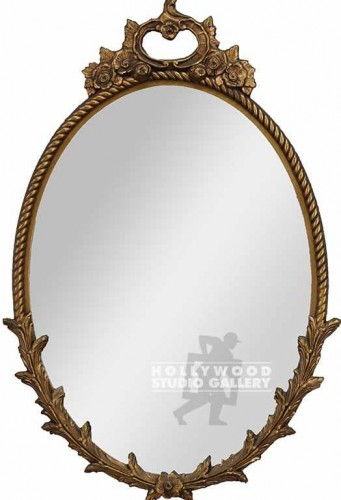 38X25 OVAL MIRROR/ORNATE GOLD FRAME