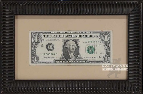 6X8 FRAMED DOLLAR BILL
