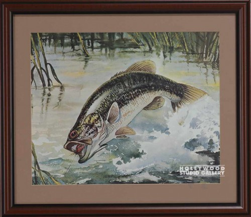 19x22 Jumping Trout Print