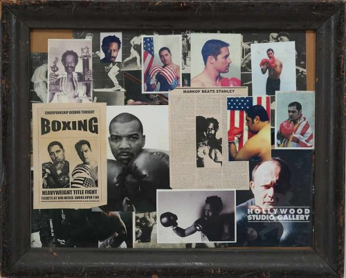 26x32 Boxing Collage/DARK WOOD