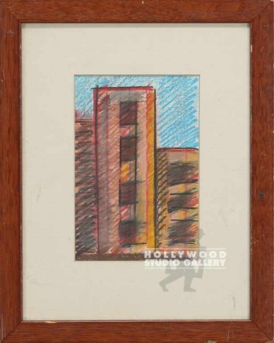 11x9 COLORED BUILDING ETCHING   CIA