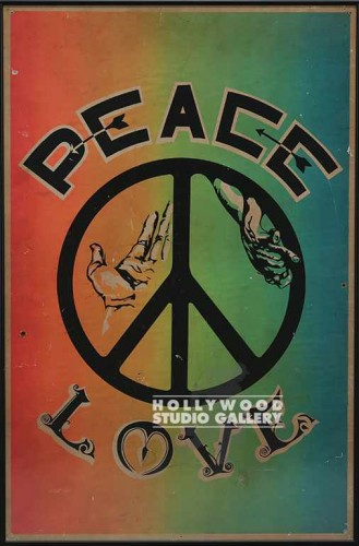 35x23 60`S Peace Sign/Framed