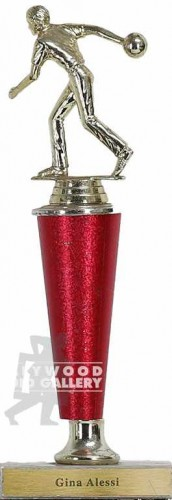 12 RED BOWLING TROPHY