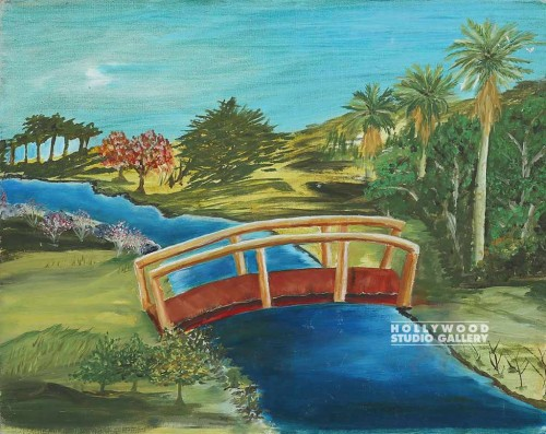 16X20 AVIS/BRIDGE OVER CREEK/CANVAS