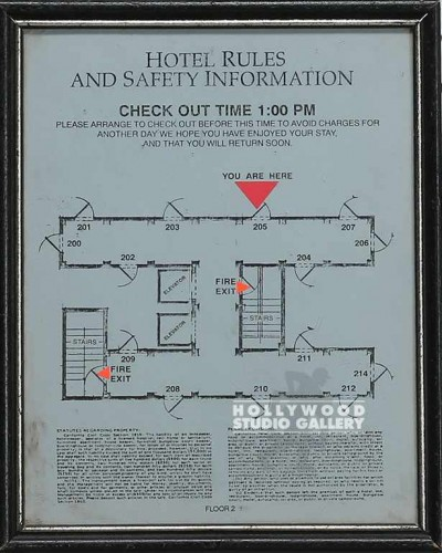 8x10 Hotel Rules & Safety/Blue