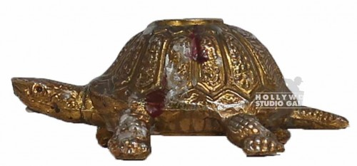 "3"" DESKTOP GOLD TURTLE W CANDLE"